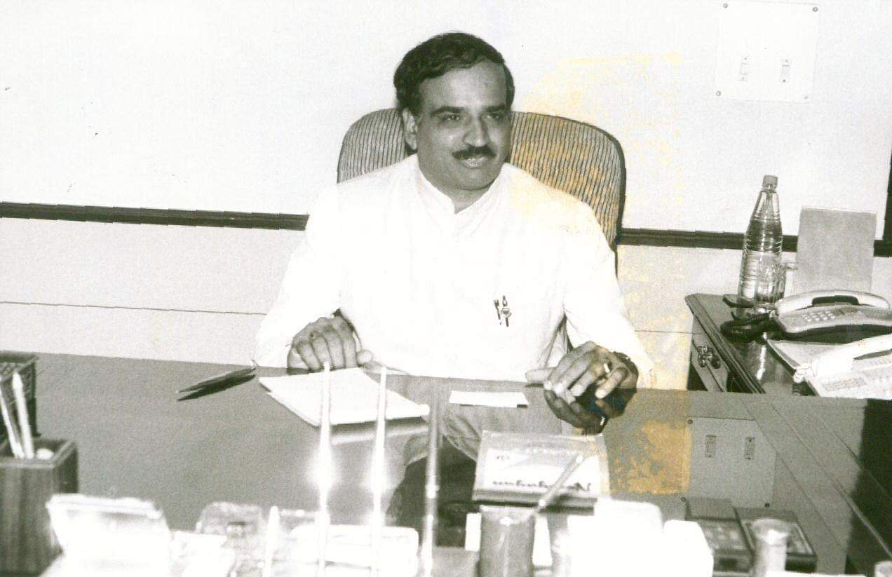 Then Union Minister Ananth Kumar at his office.