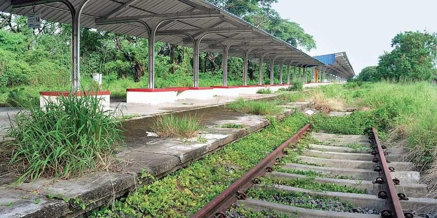 The Willingdon Island railway station platform in Kochi