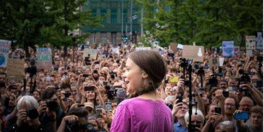 Swedish teenage activist Greta Thunberg.