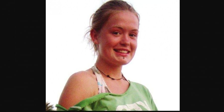 British teenager Scarlett Keeling, a few days before her murder on February 18, 2008. (File photo)