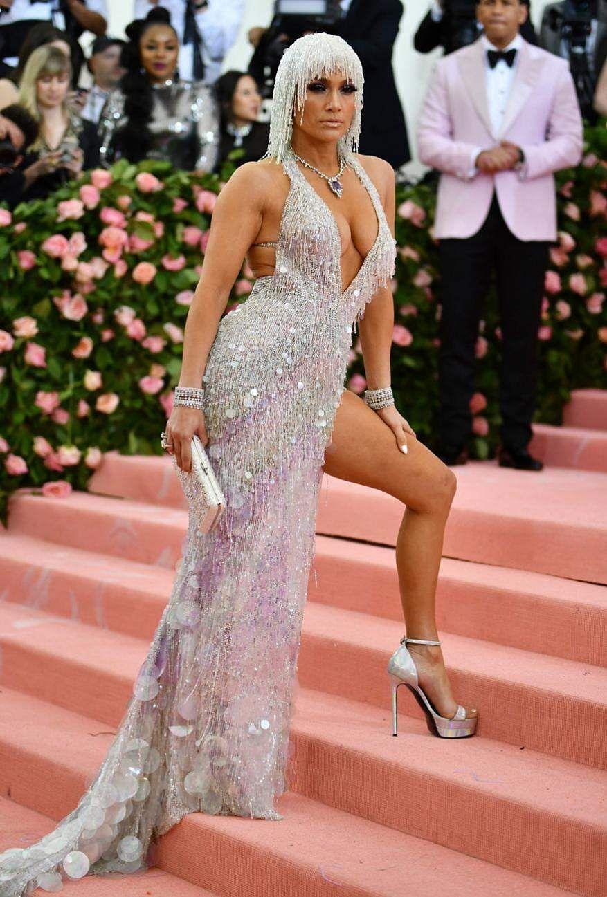 Jennifer Lopez looks ravishing in a shimmering dress at MET Gala 2019 in New York.