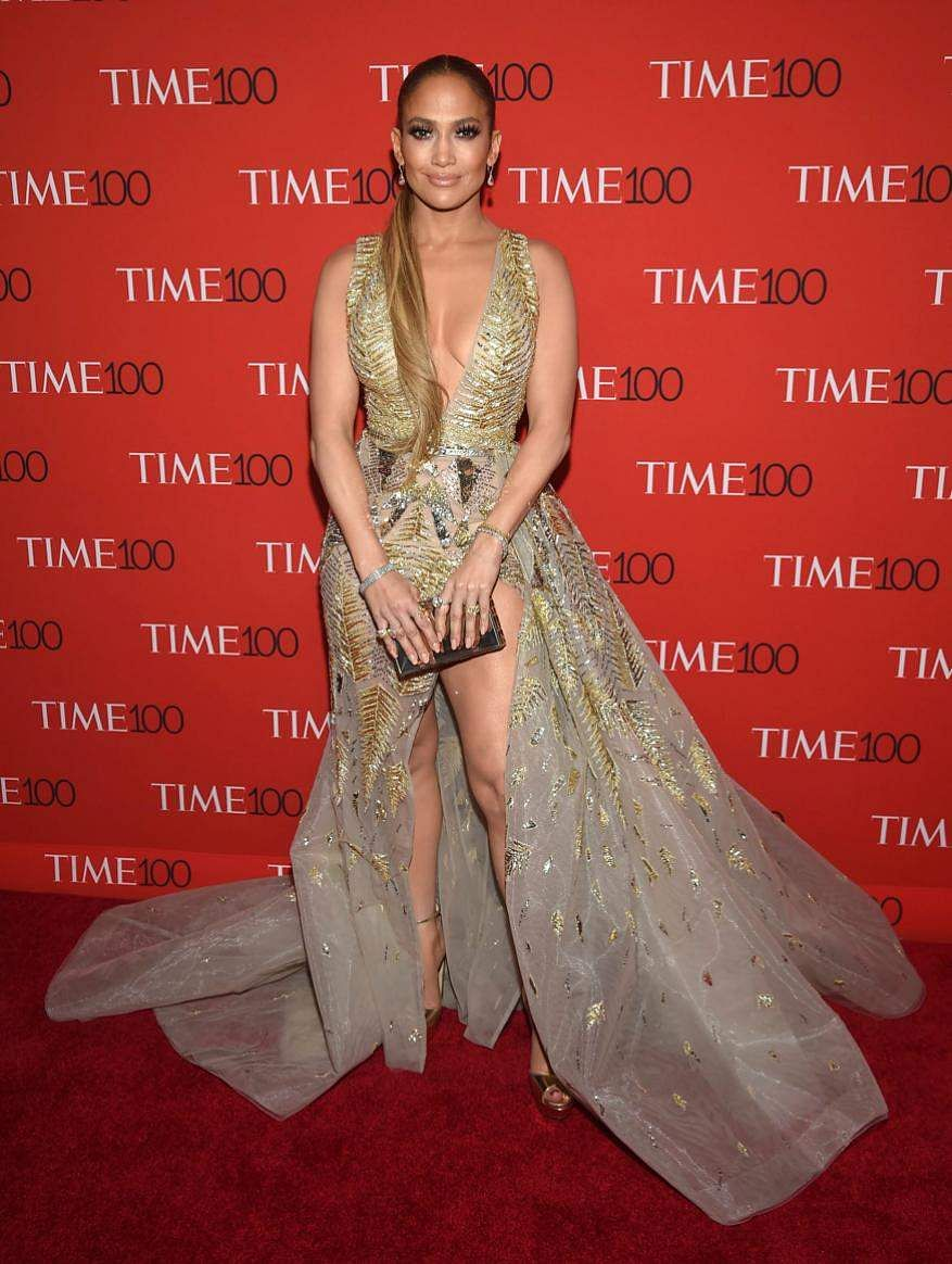 Jennifer Lopez attends the Time 100 Gala celebrating the 100 most influential people in New York.