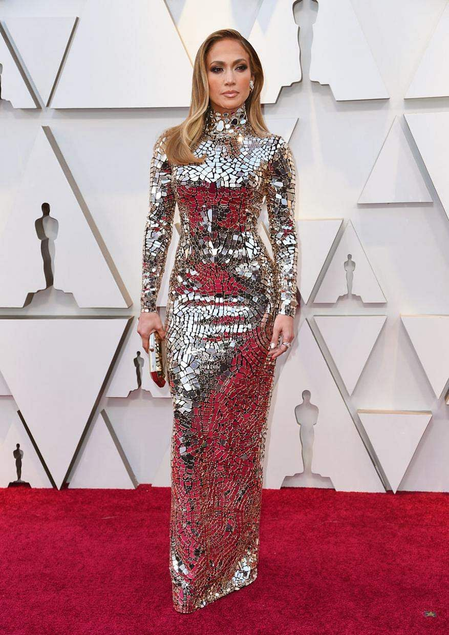 Jennifer Lopez arrives at the 91st Academy Awards in Los Angeles.
