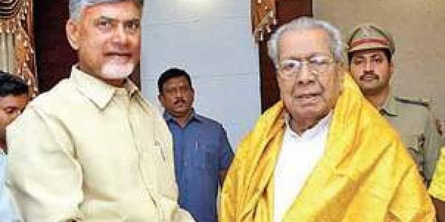 Chandrababu meets Governor Harichandan at Raj Bhavan