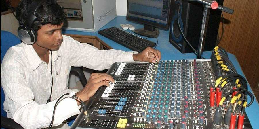 Studio of Ravenshaw Radio in Cuttack