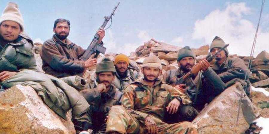 Capt. Cariappa and his boys of 5 Para on a peak after a successful operation