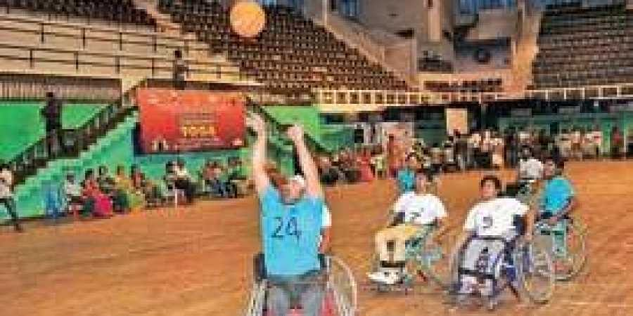 Vishakhapatnam disabled basketball team