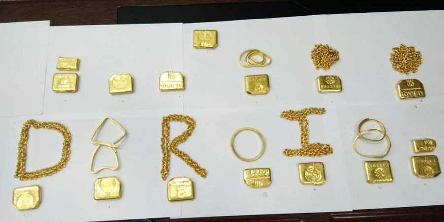 smuggled gold, Hyderabad airport, DRI seizure
