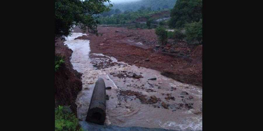 A visual of the Tiware dam that breached and flooded nearby villages on 3 July 2019 in Maharashtra's Ratnagiri district. (Photo | EPS)