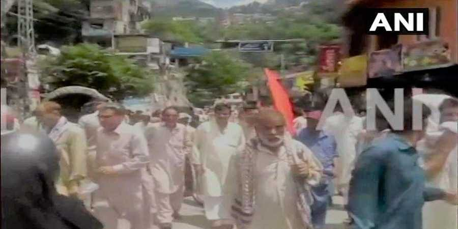 People in Muzaffarabad, in Pakistan occupied Kashmir, held protest against construction of dams on rivers in the region and Neelum-Jhelum Hydropower project