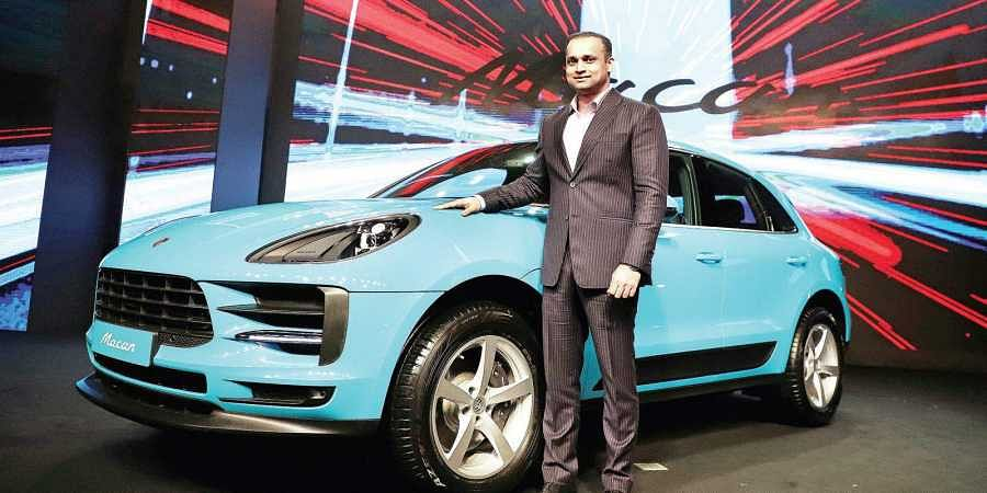 Porsche India director Pavan Shetty at the launch of the new Porsche Macan in New Delhi on Monday