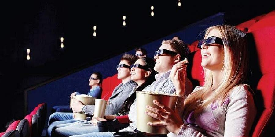 theatre, watching, movie, popcorn, 3D