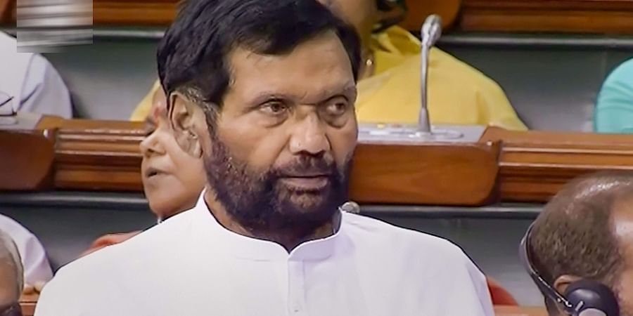 Union Minister and Lok Janshakti Party LJP MP Ram Vilas Paswan speaks in the Lok Sabha during the ongoing Budget Session of Parliament in New Delhi.