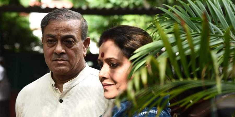 Rajya Sabha MP Sanjay Sinh with his wife Amita Singh