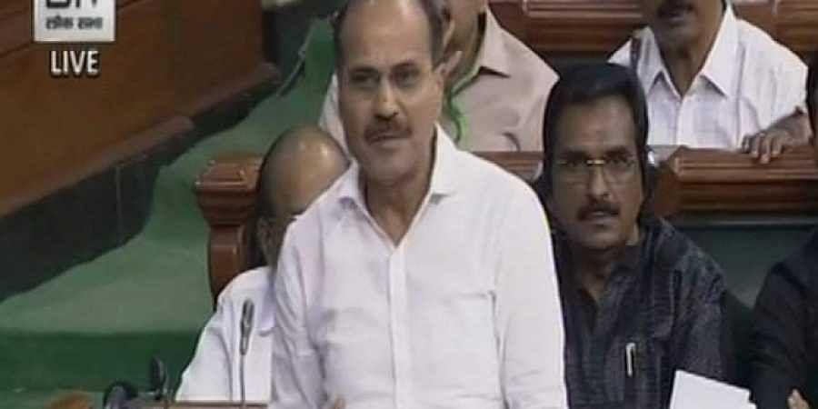 Congress leader Adhir Ranjan Chowdhury (Photo   Screengrab)