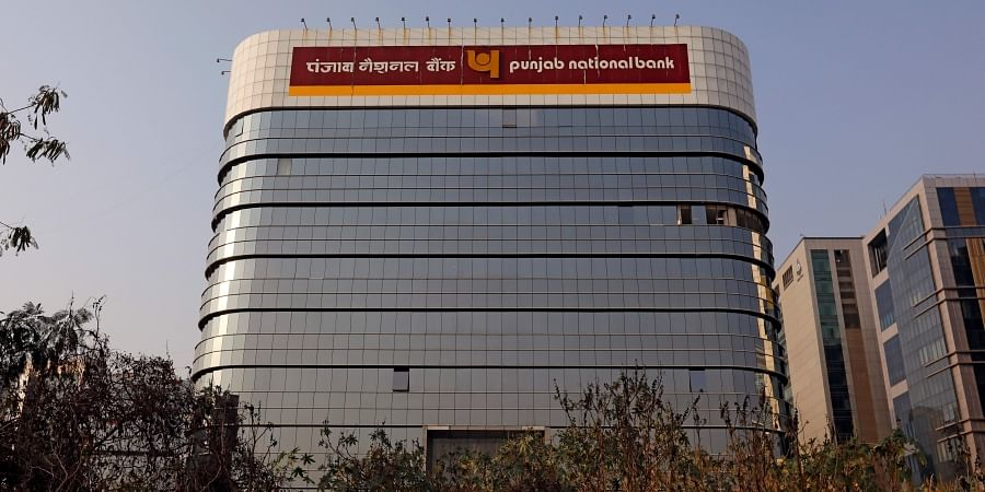 The logo of Punjab National Bank is seen on the facade of its office in Mumbai