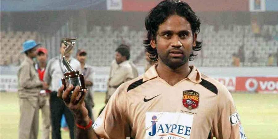 Former Indian cricketer Y Venugopal Rao during his time with now-defunct IPL team Deccan Chargers.