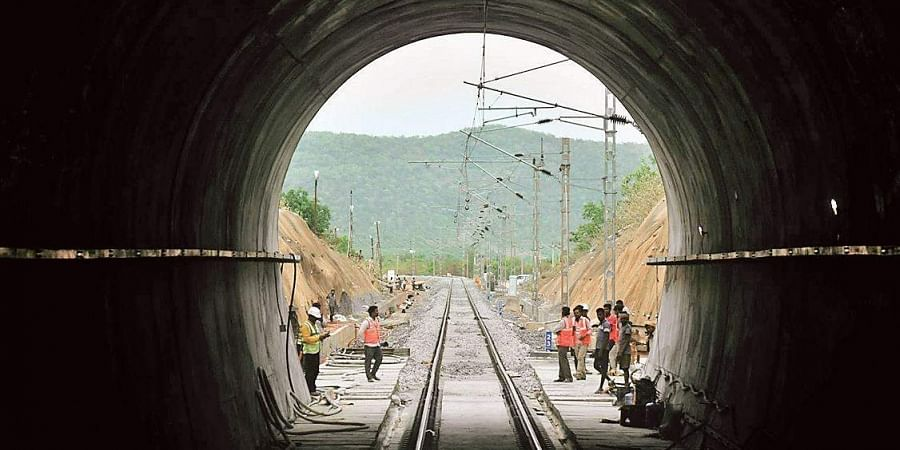 The newly commissioned 6.6 km long electrified tunnel between Cherlopalli and Rapuru railway stations in Nellore district.