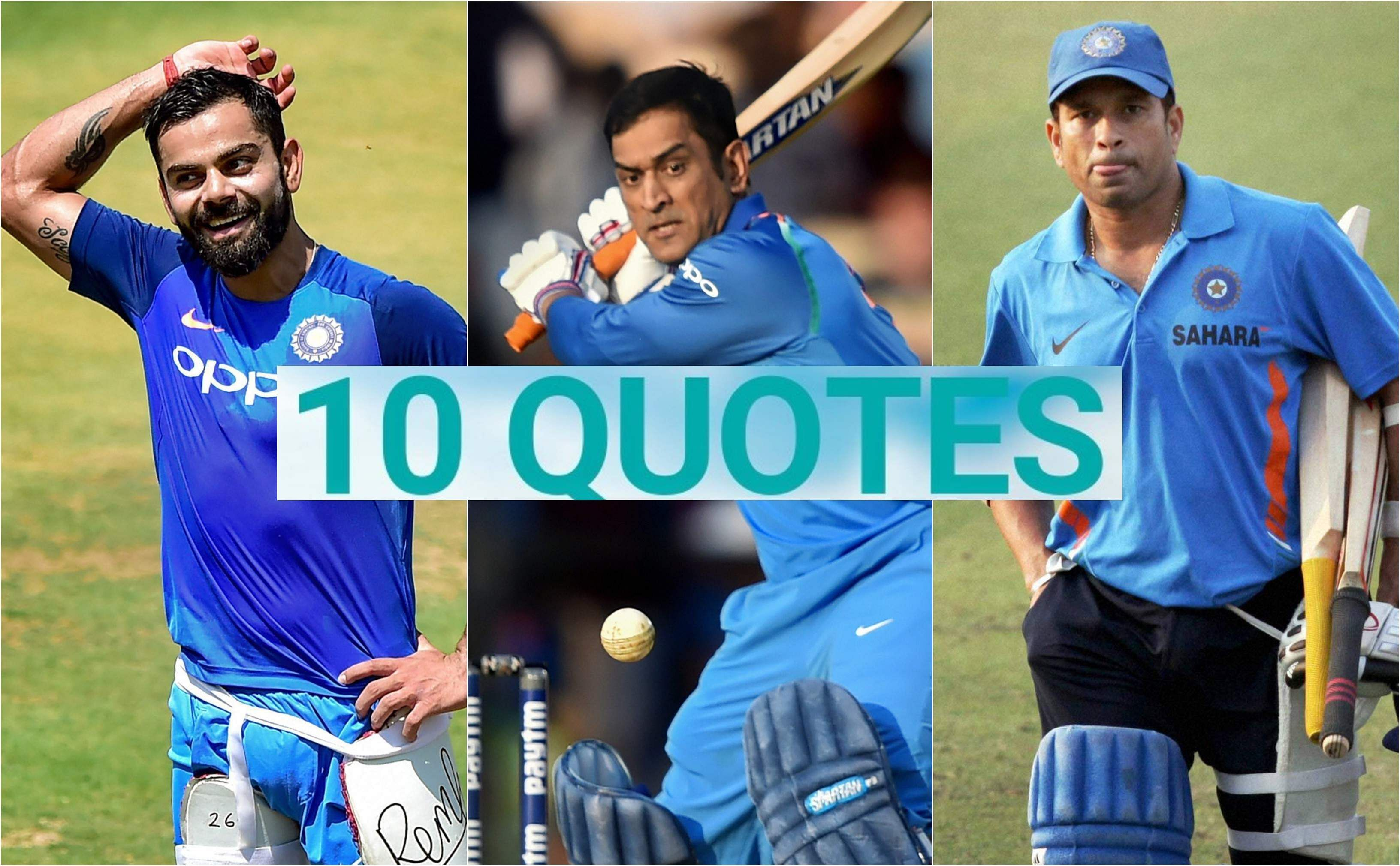 As Indian cricketerMS Dhoni turns 38, let us take a look at 10 quotes aboutMS Dhoni that defines his legacy.