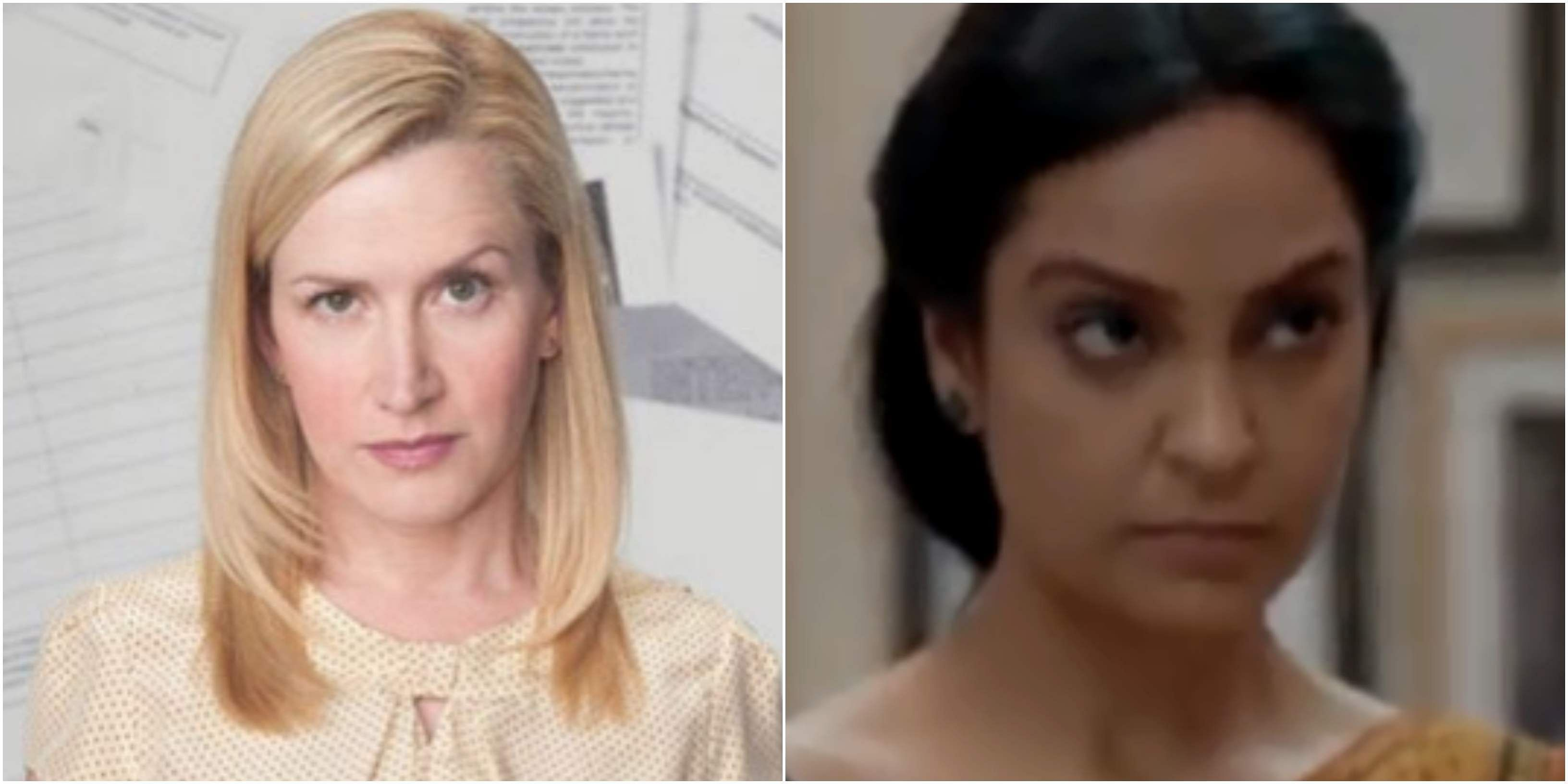 Character name- Angela Martin / Anjali Played by- Angela Kinsey (The Office US), Priyanka Setia (The Office India) Snooty accountant Angela's holier-than-thou, religious and uptight personality is reflected in Anjali's attire choices and expressions in The Office India as well. With agarbattis on her desk, Anjali is ready perform pujas at all times.