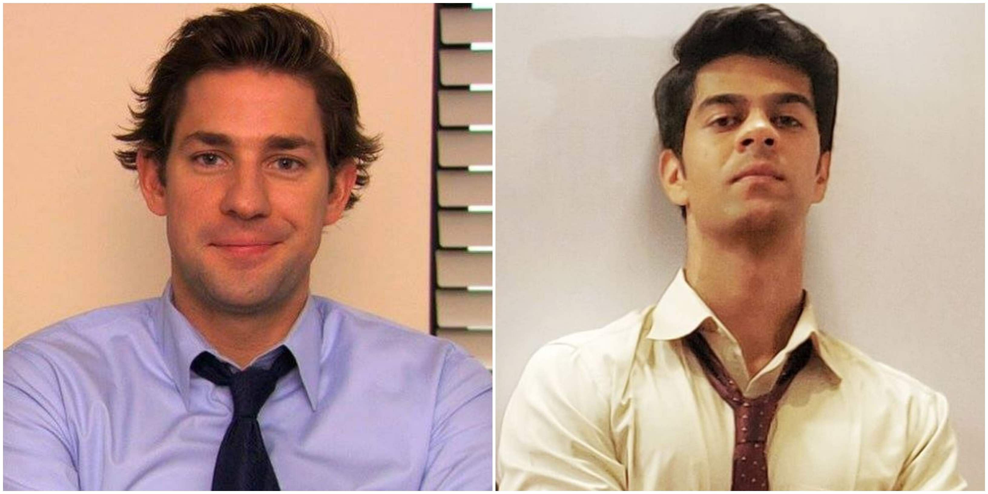 Character name- Jim Halpert / Amit Mishra Played by- John Krasinski (The Office US), Sayandeep Sengupta (The Office India) Dwight's arch nemesis Jim, is synonymous with his iconic facial expression looking towards the camera whenever something awkward transpires in the Office. Sayandeep Sengupta who plays him in the Indian version has his own expressions to offer.
