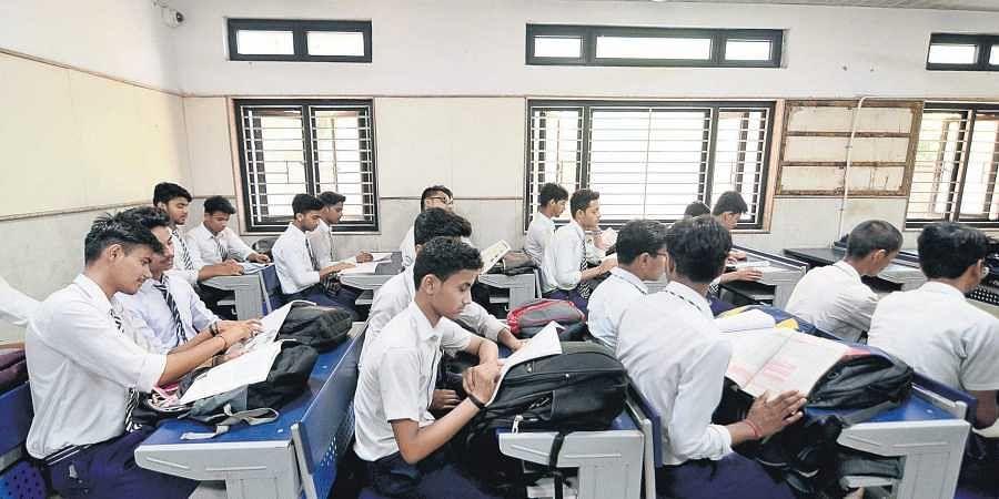 CCTV installed at a classroom inside Shaheed Hemu Kalani school in Lajpat Nagar on Saturday.