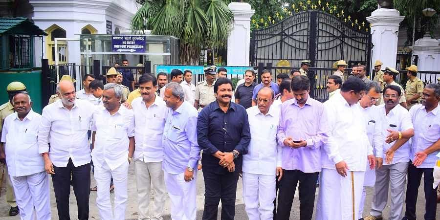 Image result for Political Chaos in Karnataka security to mlas