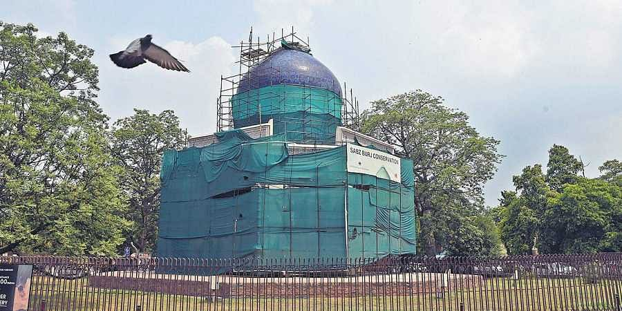 A view of the Subz Burj at Nizamuddin area on Saturday. ( Photo | EPS)