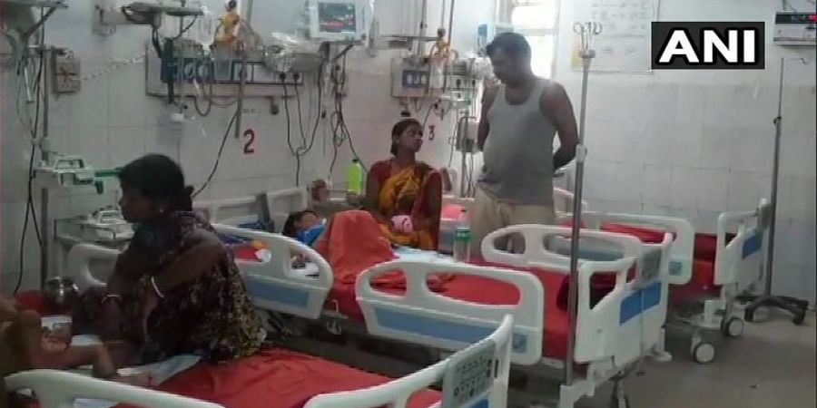 Children being treated at Anugrah Narayan Magadh Medical College in Gaya.