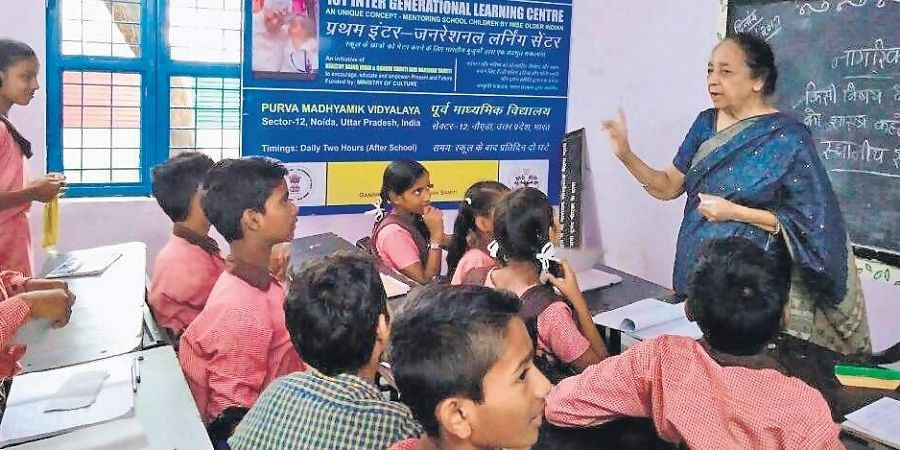 As part of an initiative by an AIIMS doctor, senior citizens are roped in to teach young children at schools.