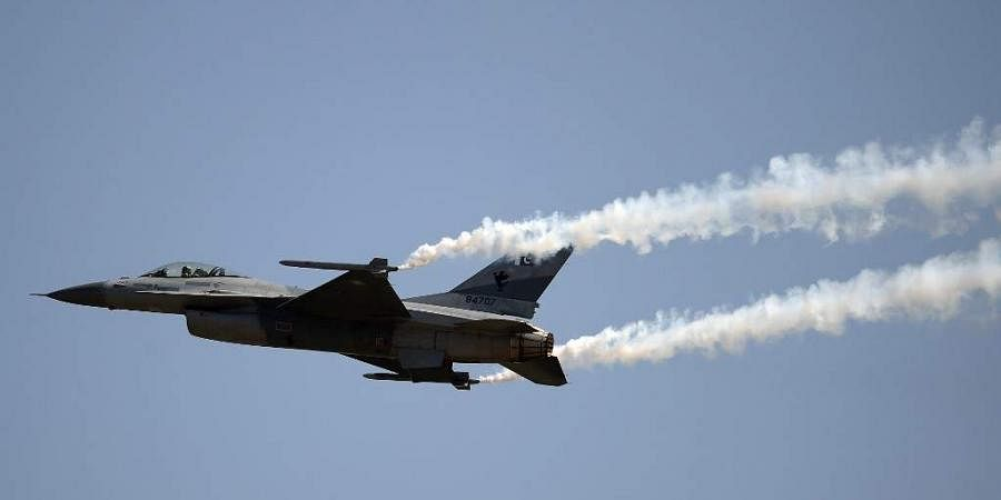 A Pakistani F-16 fighter jet. (Photo | AFP)