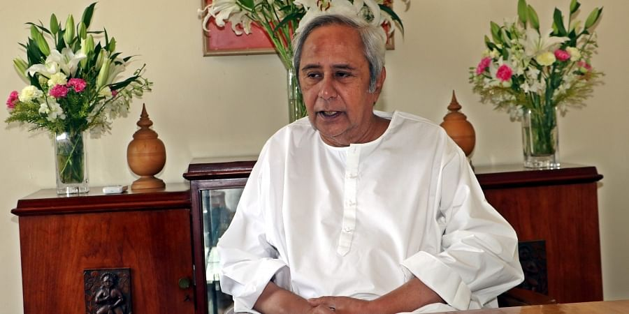Chief Minister Naveen Patnaik of Odisha at his residence Naveen Nivas in Bhubaneswar on Monday