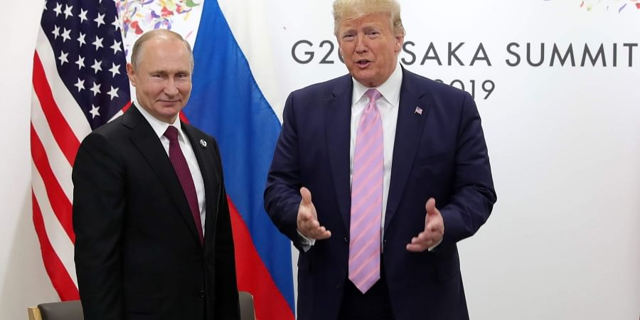 U.S. President Donald Trump, right, and Russian President Vladimir Putin