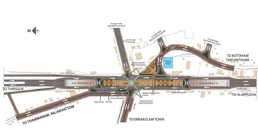 A graphic representation of the BKRG model of the proposed Vyttila flyover
