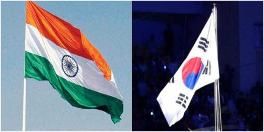 Flags of India and South Korea