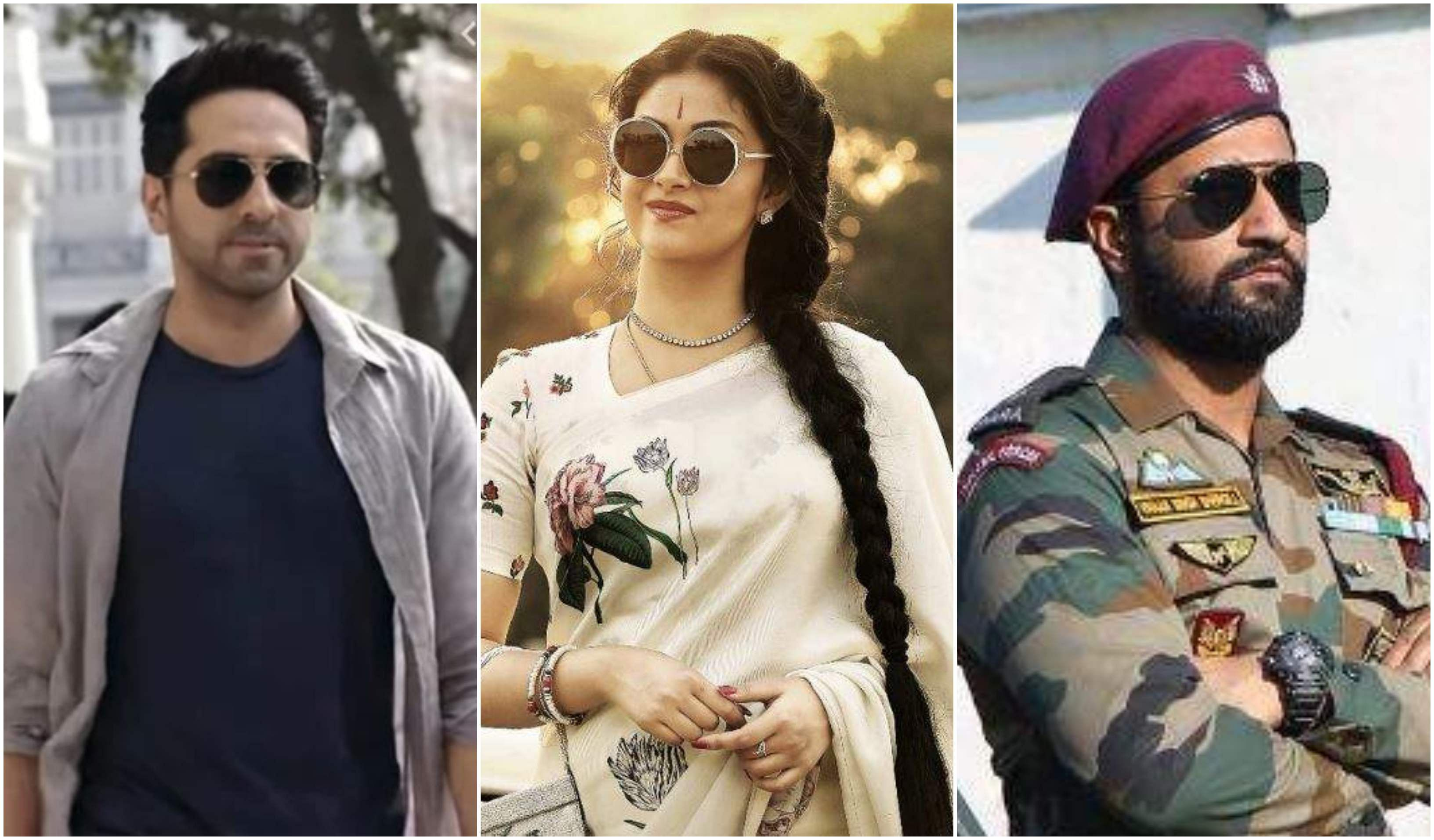Ayushmann Khurrana from 'Andhadhun', Keerthy Suresh from 'Mahanati' and Vicky Kaushal from 'Uri: The Surgical Strike.'