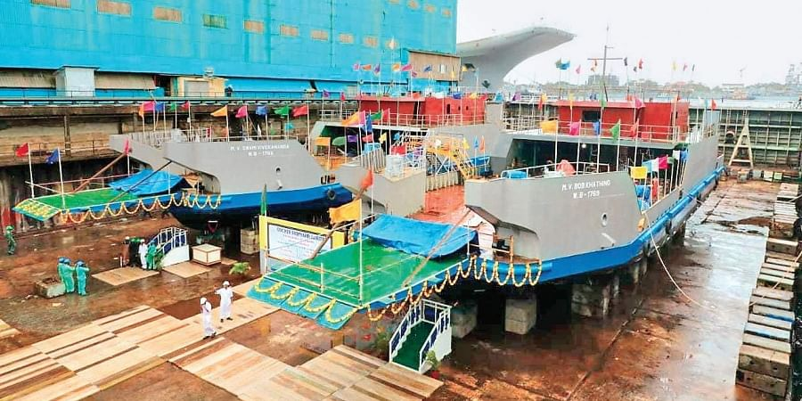 The RO PAX vessels  that were designed and built by Cochin Shipyard Limited, for Inland Waterways Authority of India