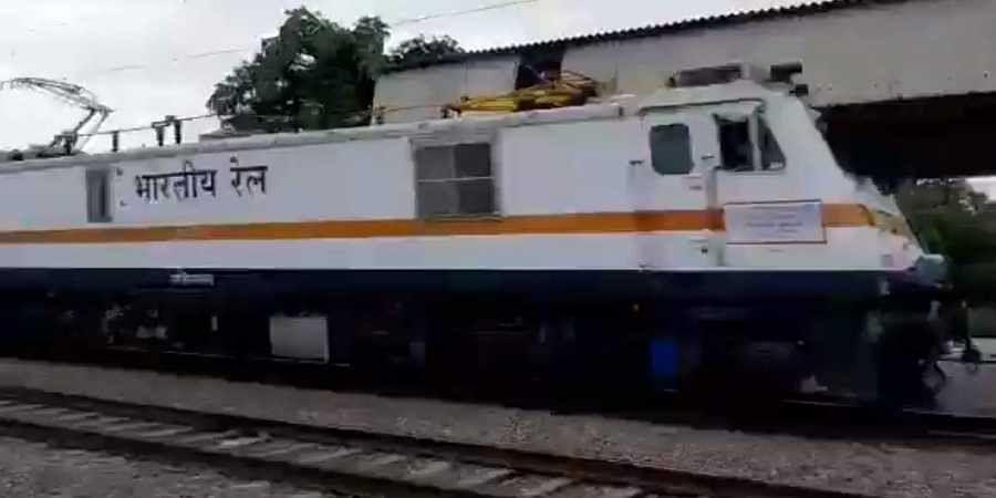 The train which can reach a maximum speed of 180 km per hour