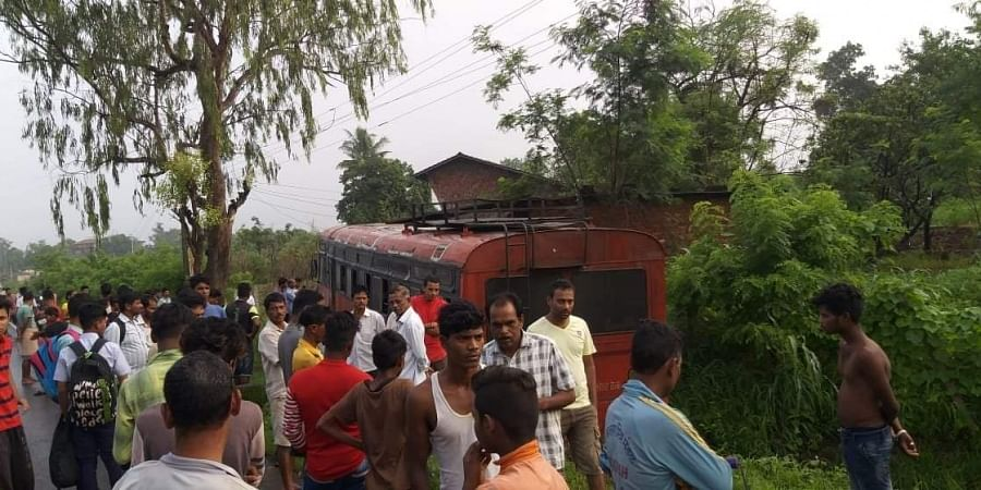 The bus was travelling on the Pivli-Vada road with around 49 children on board when the incident took place