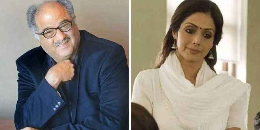 Producer Boney Kapoor and late wife Sridevi