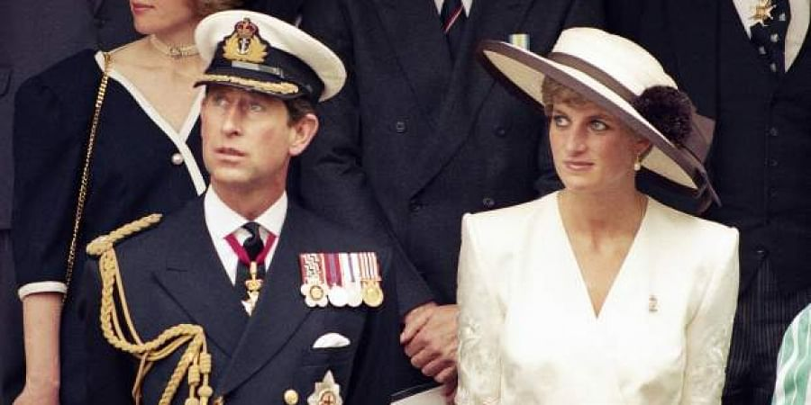 Prince Charles with his wife the late Princess Diana