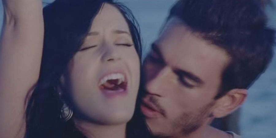 Katy Perry and Josh Kloss in a still from 'Teenage Dream'
