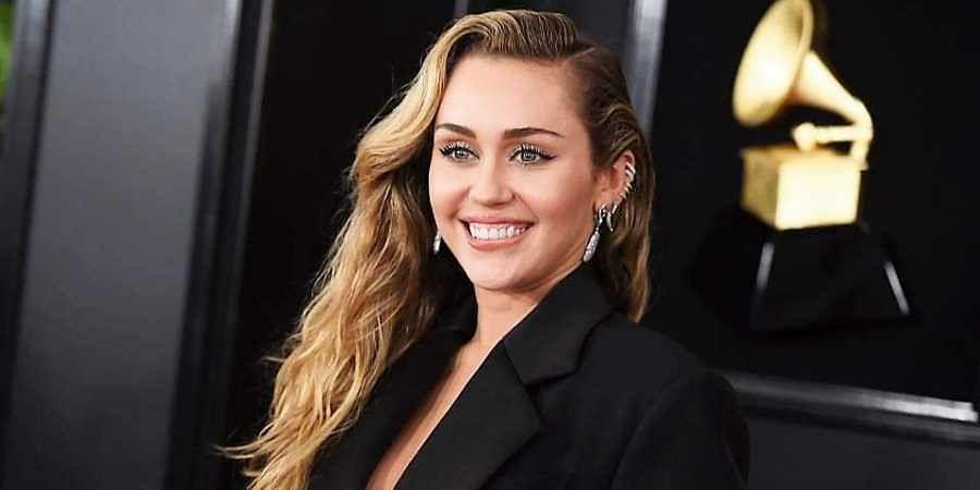 American singer Miley Cyrus
