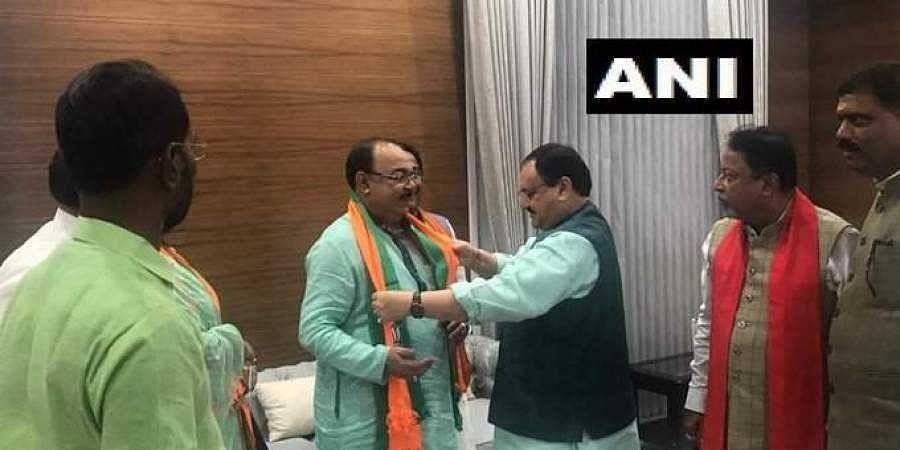 Former Kolkata Mayor Sovan Chatterjee joined the BJP on 14 August 2019. (Photo | ANI Twitter)