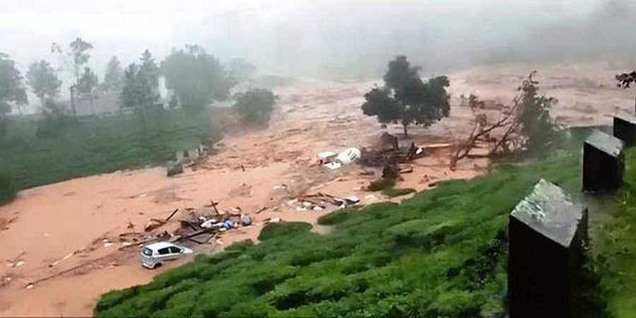 Landslide, Kerala floods