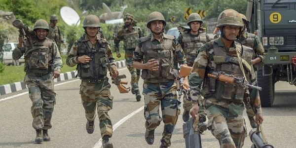 Image of army jawans in Kashmir valley used for representational purpose (File Photo | PTI)