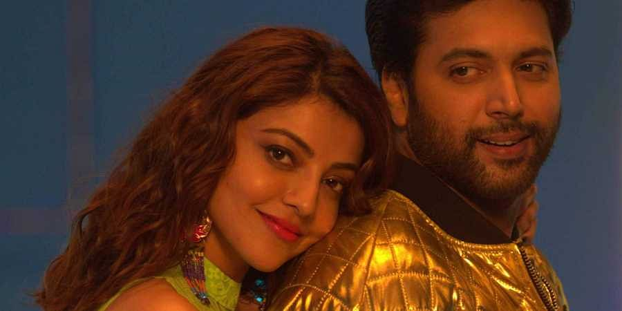 Actress Kajal Aggarwal and Actor Jayam Ravi in Comali movie.