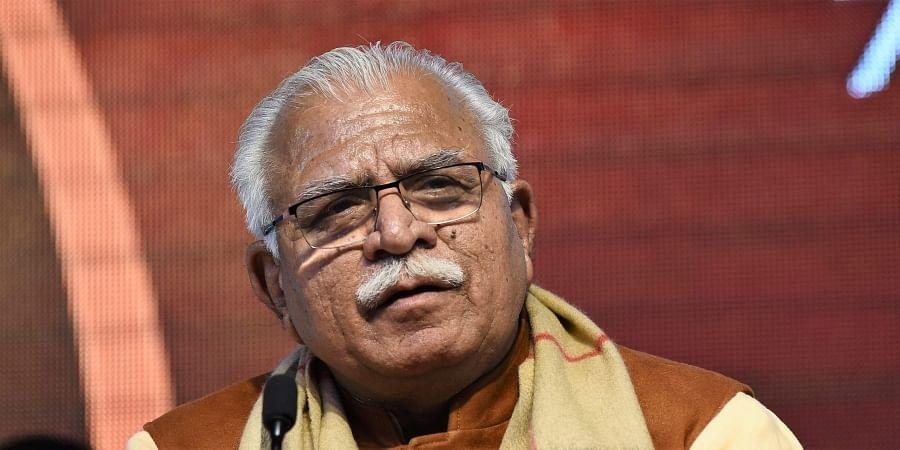 Haryana CM Manohar Lal Khattar