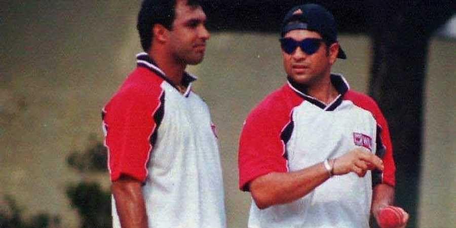 Former Indian cricketers Robin Singh and Sachin Tendulkar