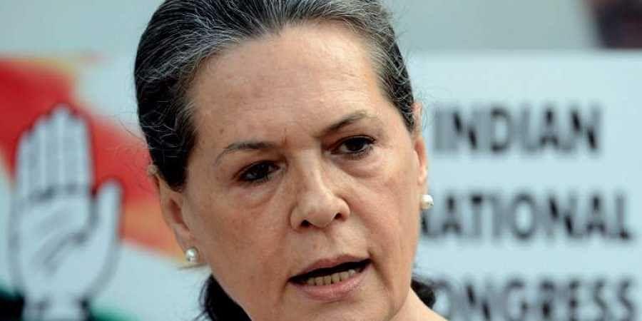 Interim Congress chief Sonia Gandhi.
